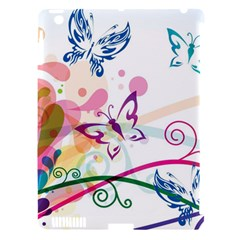 Butterfly Vector Art Apple Ipad 3/4 Hardshell Case (compatible With Smart Cover)