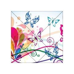 Butterfly Vector Art Acrylic Tangram Puzzle (4  X 4 )