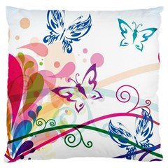 Butterfly Vector Art Large Cushion Case (one Side)