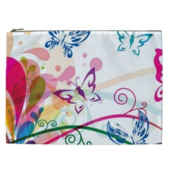 Butterfly Vector Art Cosmetic Bag (xxl)