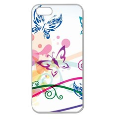Butterfly Vector Art Apple Seamless Iphone 5 Case (clear)