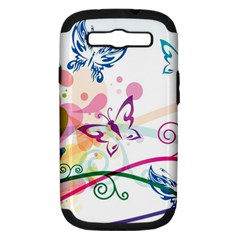 Butterfly Vector Art Samsung Galaxy S Iii Hardshell Case (pc+silicone)
