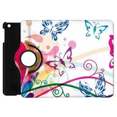 Butterfly Vector Art Apple Ipad Mini Flip 360 Case