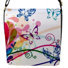 Butterfly Vector Art Flap Messenger Bag (s)