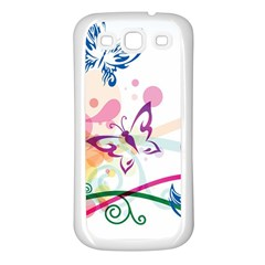 Butterfly Vector Art Samsung Galaxy S3 Back Case (white)