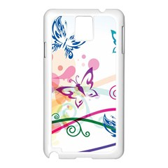 Butterfly Vector Art Samsung Galaxy Note 3 N9005 Case (white)
