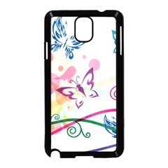 Butterfly Vector Art Samsung Galaxy Note 3 Neo Hardshell Case (black)