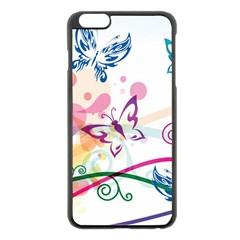Butterfly Vector Art Apple Iphone 6 Plus/6s Plus Black Enamel Case