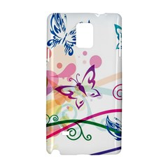 Butterfly Vector Art Samsung Galaxy Note 4 Hardshell Case