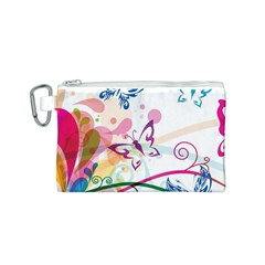 Butterfly Vector Art Canvas Cosmetic Bag (s)