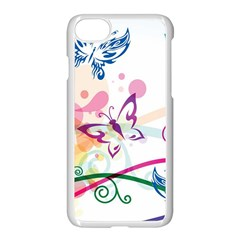 Butterfly Vector Art Apple Iphone 7 Seamless Case (white)