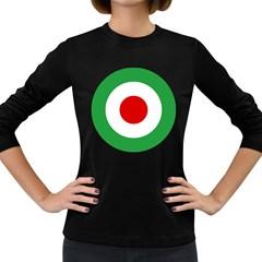 Iran Air Force Roundel Women s Long Sleeve Dark T-Shirts