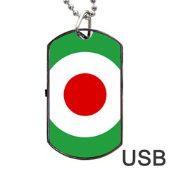 Iran Air Force Roundel Dog Tag USB Flash (Two Sides)
