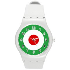 Iran Air Force Roundel Round Plastic Sport Watch (M)