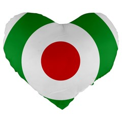 Iran Air Force Roundel Large 19  Premium Flano Heart Shape Cushions