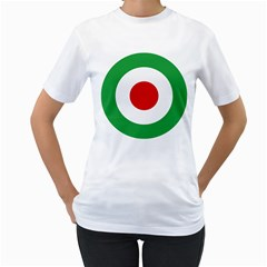 Iran Air Force Roundel Women s T-Shirt (White) (Two Sided)