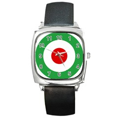 Iran Air Force Roundel Square Metal Watch