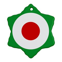 Iran Air Force Roundel Snowflake Ornament (Two Sides)