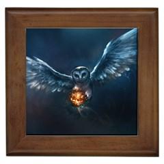 Owl And Fire Ball Framed Tiles