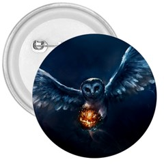 Owl And Fire Ball 3  Buttons