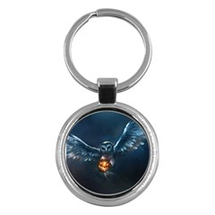 Owl And Fire Ball Key Chains (round)