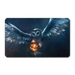Owl And Fire Ball Magnet (rectangular)