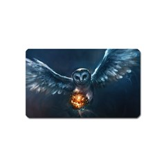 Owl And Fire Ball Magnet (Name Card)