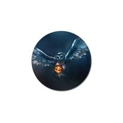 Owl And Fire Ball Golf Ball Marker