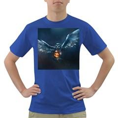 Owl And Fire Ball Dark T-Shirt
