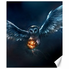 Owl And Fire Ball Canvas 8  X 10