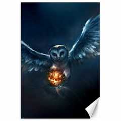 Owl And Fire Ball Canvas 20  X 30