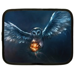 Owl And Fire Ball Netbook Case (large)