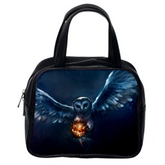 Owl And Fire Ball Classic Handbags (one Side)