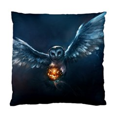 Owl And Fire Ball Standard Cushion Case (Two Sides)