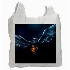 Owl And Fire Ball Recycle Bag (one Side)