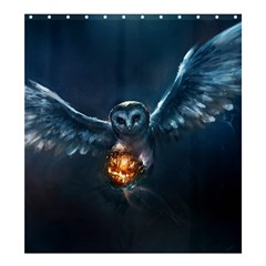 Owl And Fire Ball Shower Curtain 66  X 72  (large)