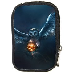 Owl And Fire Ball Compact Camera Cases