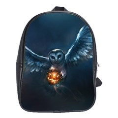 Owl And Fire Ball School Bags(large)