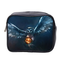 Owl And Fire Ball Mini Toiletries Bag 2-Side