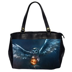 Owl And Fire Ball Office Handbags (2 Sides)