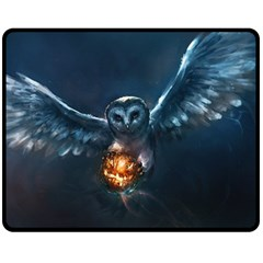 Owl And Fire Ball Fleece Blanket (Medium)
