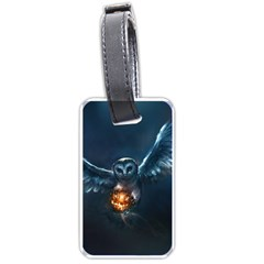 Owl And Fire Ball Luggage Tags (two Sides)