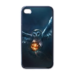 Owl And Fire Ball Apple Iphone 4 Case (black)