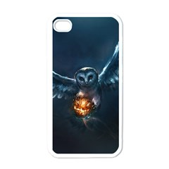 Owl And Fire Ball Apple Iphone 4 Case (white)