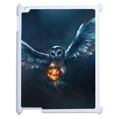 Owl And Fire Ball Apple iPad 2 Case (White)