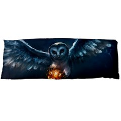 Owl And Fire Ball Body Pillow Case Dakimakura (Two Sides)