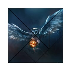 Owl And Fire Ball Acrylic Tangram Puzzle (6  x 6 )