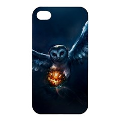 Owl And Fire Ball Apple Iphone 4/4s Premium Hardshell Case