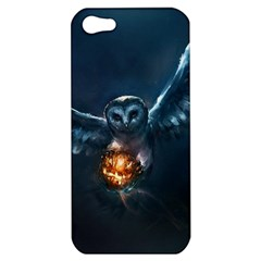 Owl And Fire Ball Apple iPhone 5 Hardshell Case