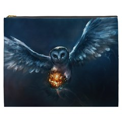 Owl And Fire Ball Cosmetic Bag (XXXL)